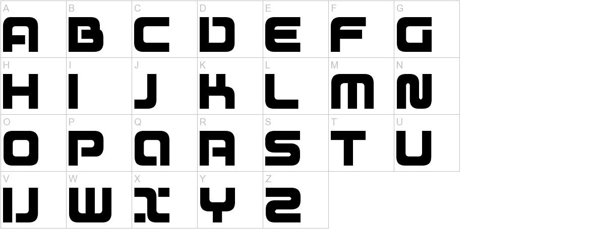 D3 Mouldism Round Alphabet uppercase