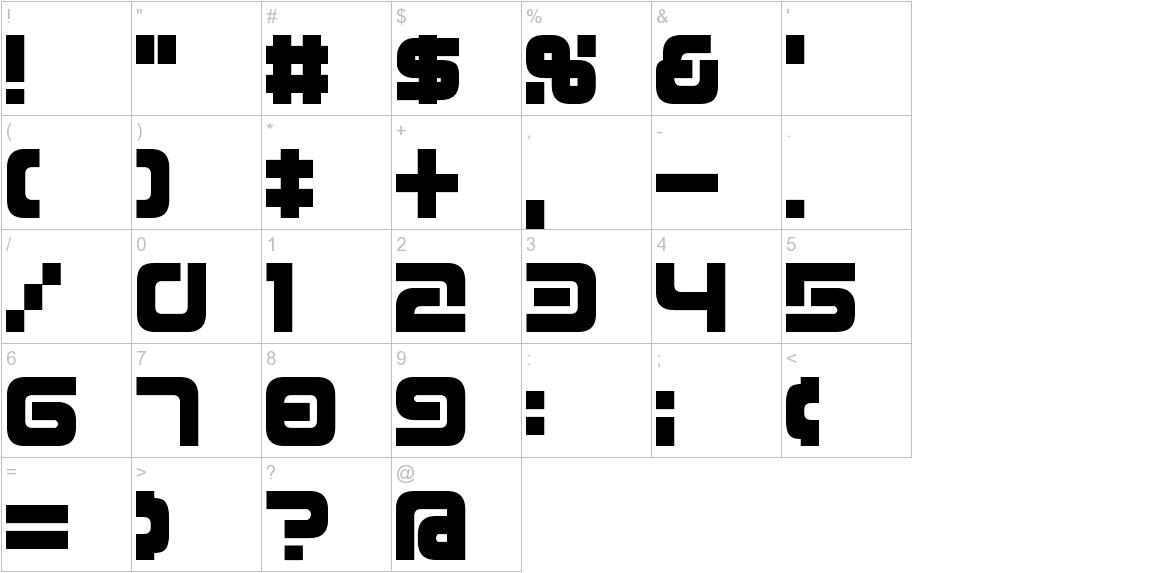 D3 Mouldism Round Alphabet characters
