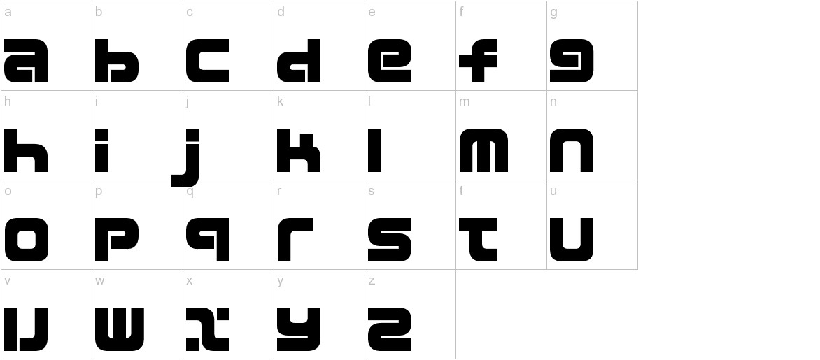 D3 Mouldism Round Alphabet lowercase
