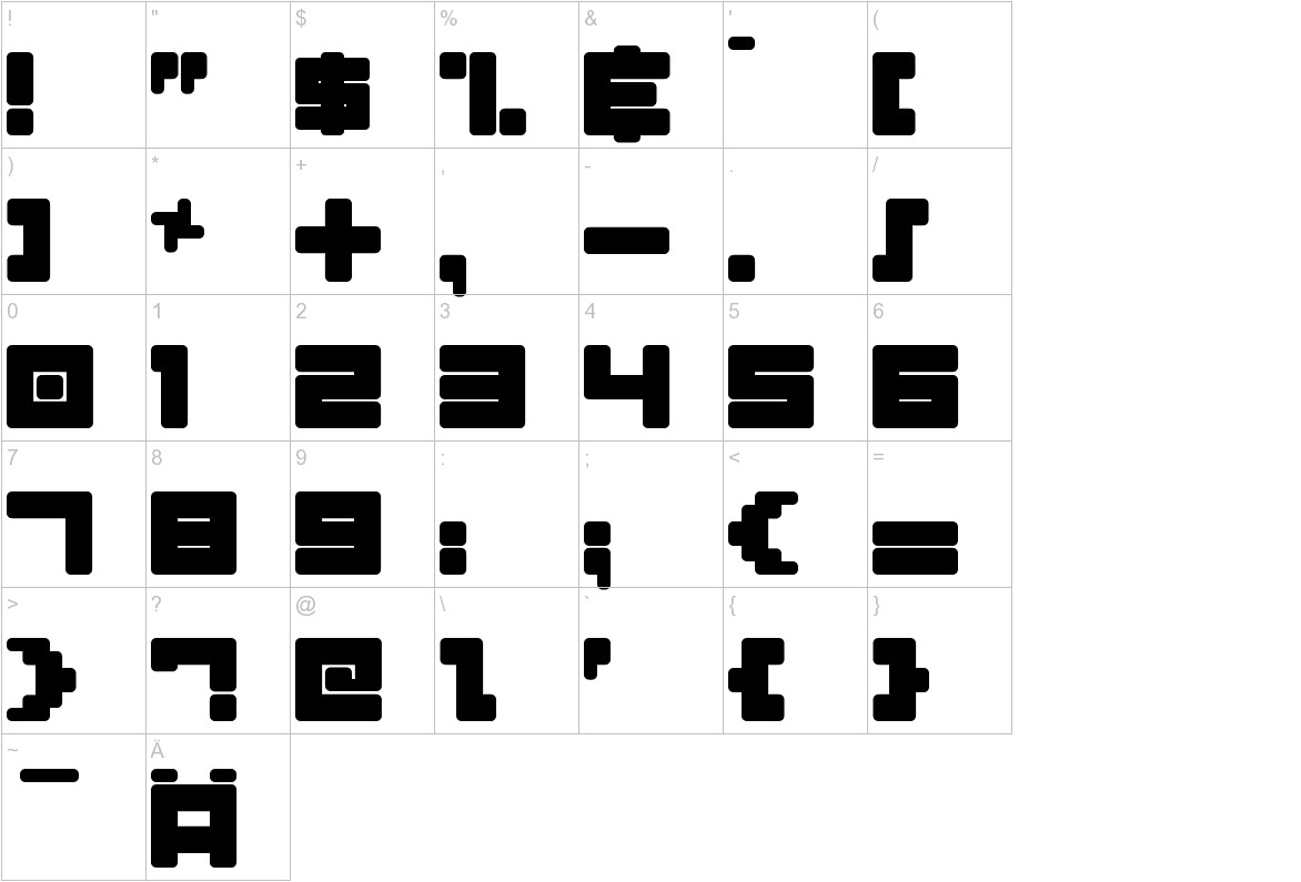 Almanaque Normal characters