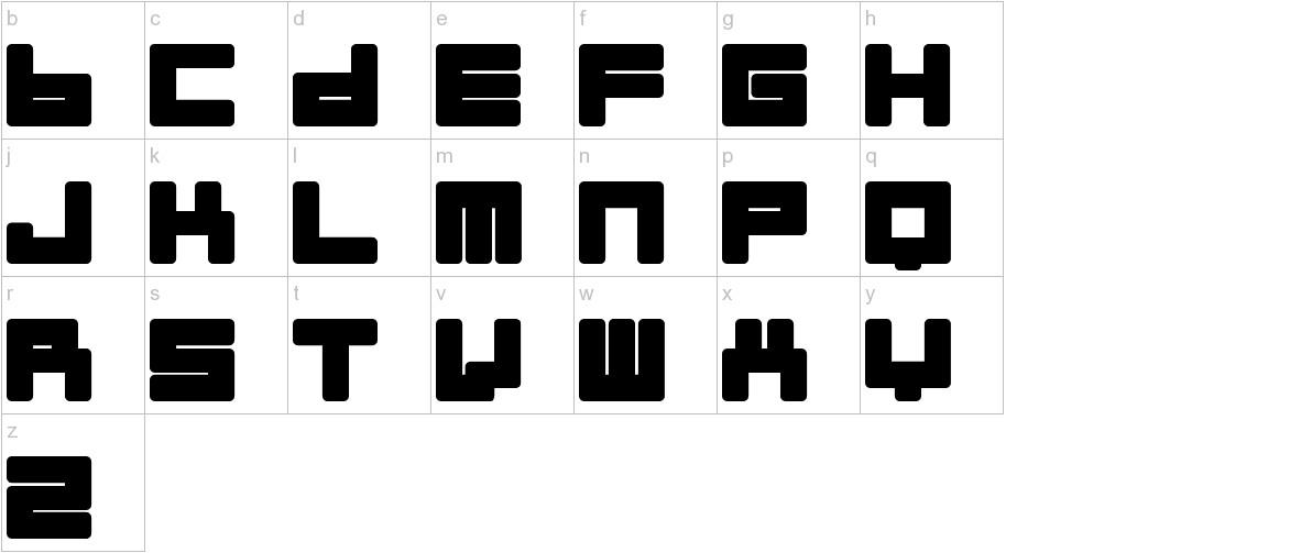 Almanaque Normal lowercase