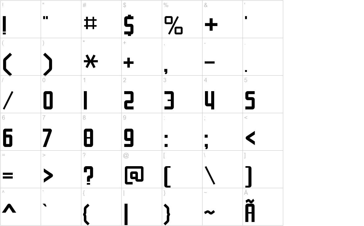 NuWave BV 2.0 characters