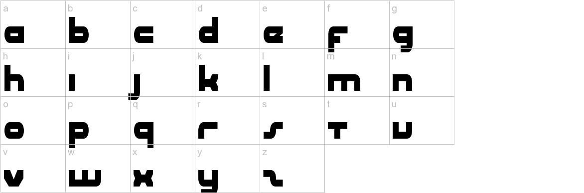 uni-sol condensed lowercase