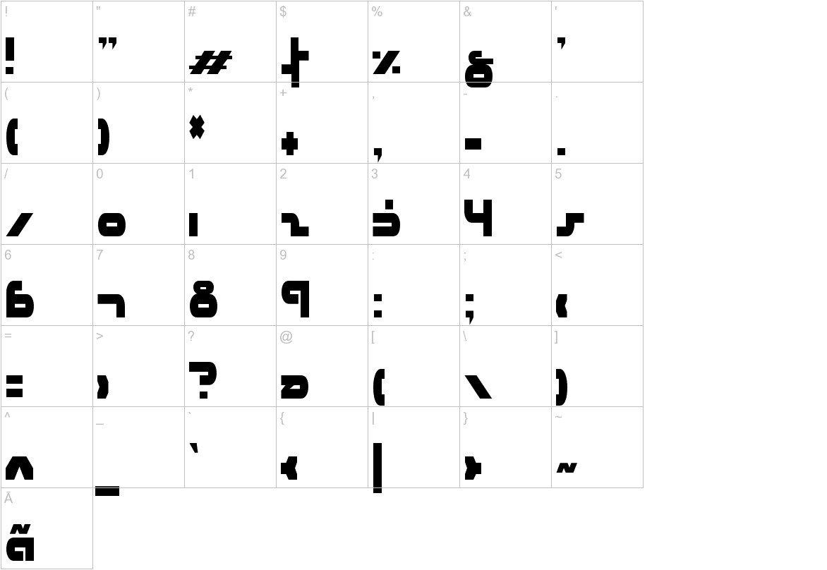 uni-sol condensed characters
