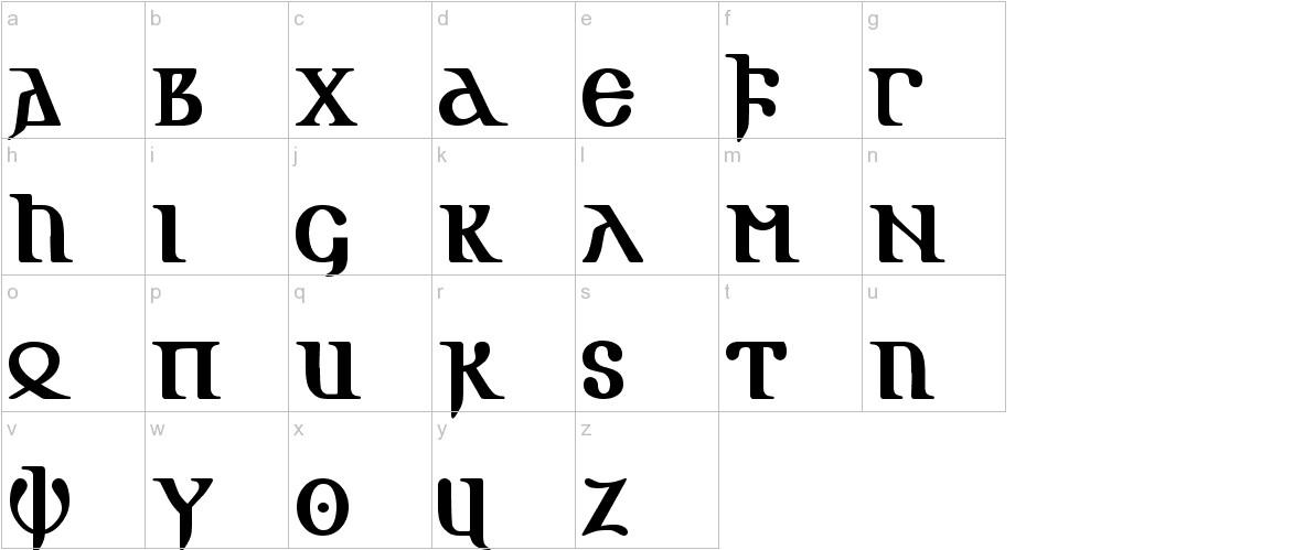 Gotik AOE lowercase