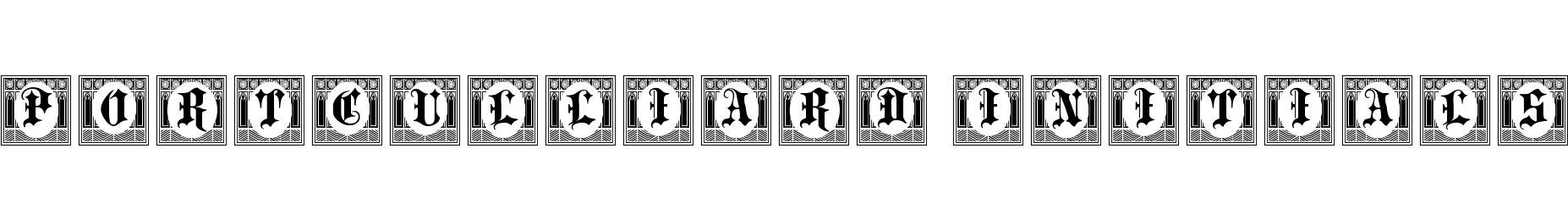 Portculliard Initials