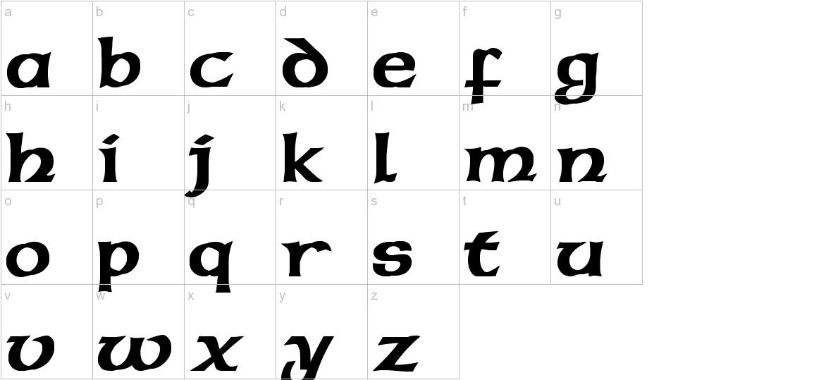 Celticmd Decorative w Drop Caps lowercase