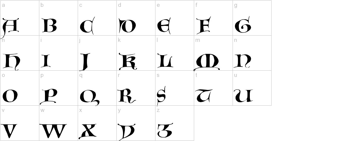 GotischeMajuskel lowercase