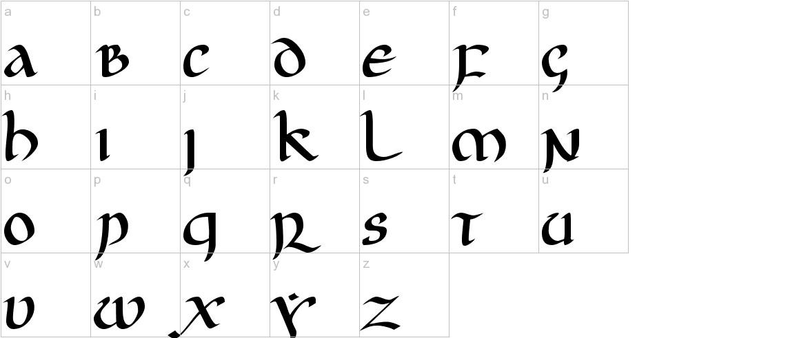 JGJ Uncial lowercase