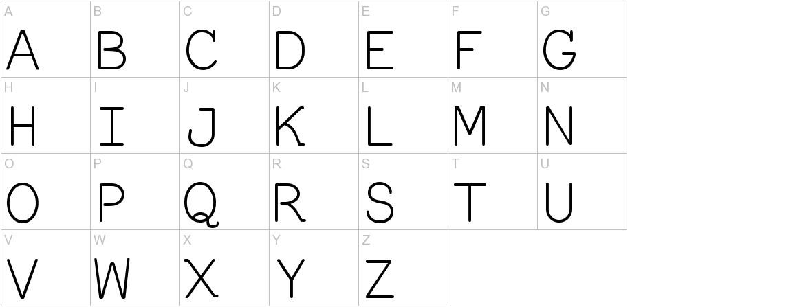 Everson Mono Latin 6 uppercase