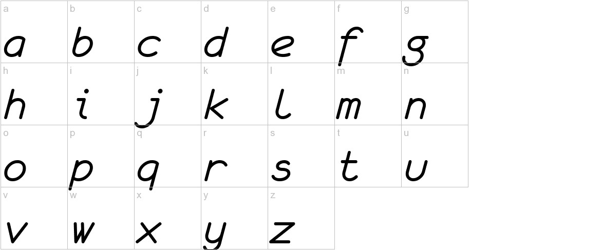 monofur   italic lowercase
