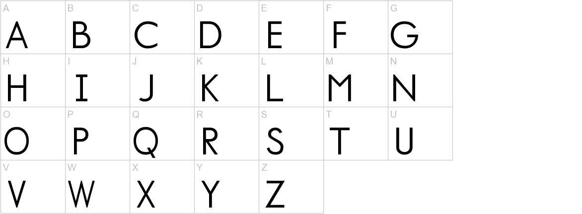 Normafixed Tryout uppercase