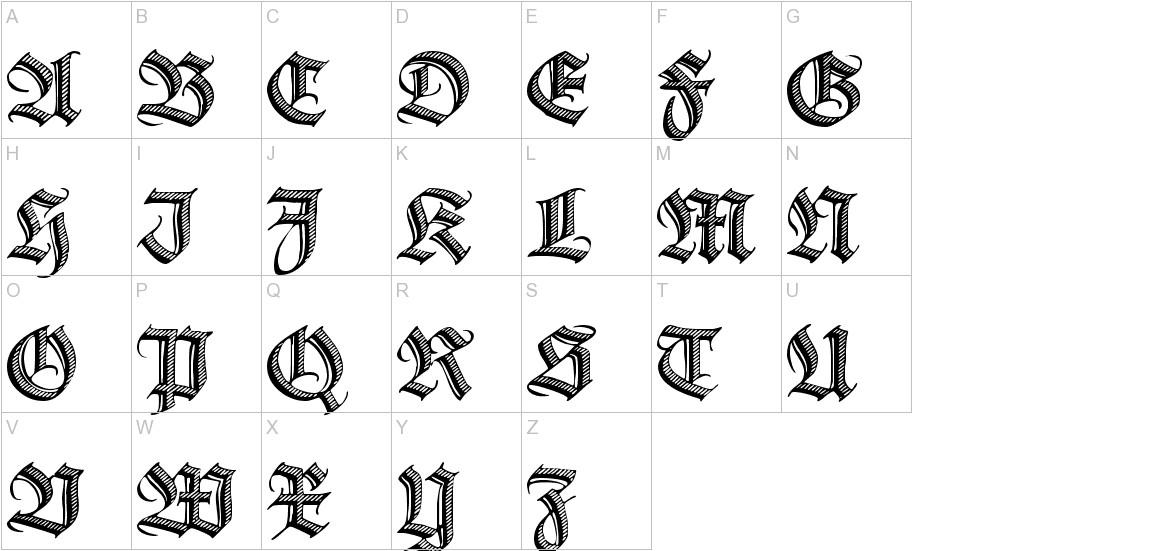 Deutsche Zierschrift uppercase