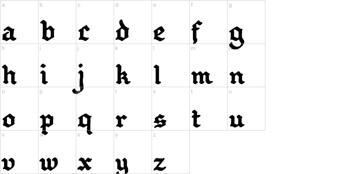 GothBallCrap Bold lowercase