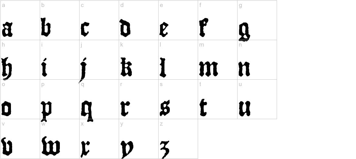 JSL Blackletter lowercase