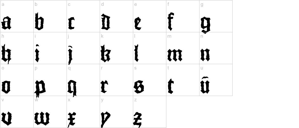 MonksWriting lowercase