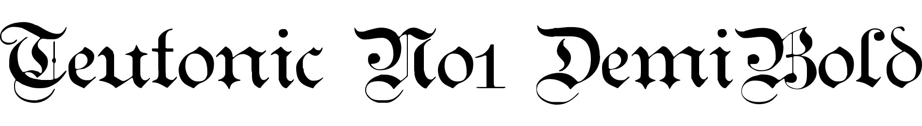 Teutonic No1 DemiBold