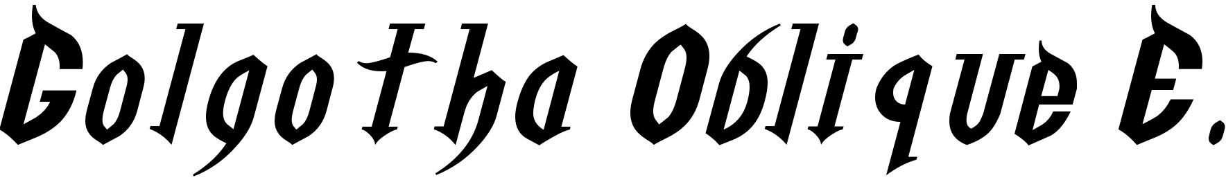 Golgotha Oblique E.